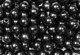 Deko Perlen schwarz in zwei Größen