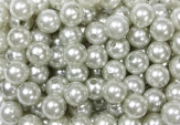 Deko Perlen silber in zwei Größen