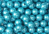 Deko Perlen türkis in zwei Größen