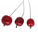 Deko Äpfel am Draht rot 2cm 48Stk