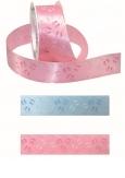 Baby Dekoband Füßchen in rosa oder blau 40mm20m