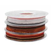 Weihnachtsband gestreift in drei Farben 15mm20m
