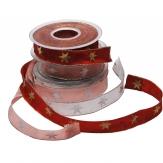 Weihnachtsband Stern in drei Farben 25mm20m