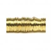 Dekodraht lackiert hellgold Ø 0,50mm50m