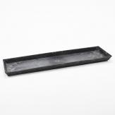 Longo / Dekoplatte Kunststoff länglich anthrazit 44x13cm