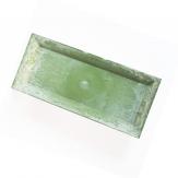 Longo / Dekoteller Kunststoff länglich grün 36x17cm