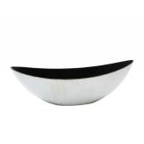Kunststoffschale Schiffchen creme-weiß 39x12cm 1Stk
