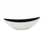 Kunststoffschale Schiffchen creme-weiß 55x17cm 1Stk