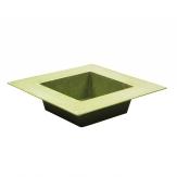 Kunststoffschale eckig grün matt 20x20cm 1Stk