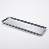 Longo / Dekoplatte Kunststoff länglich silber 44x13cm