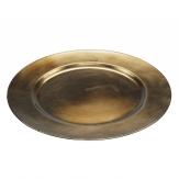 Platte / Dekoteller rund messing Ø30cm 1Stk