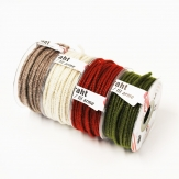 Dochtfaden Glamour diverse Farben mit Draht 5mm33m