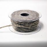 Dochtfaden Lehner Wollfilz in hellgrau 5mm35m