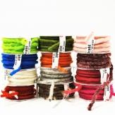 Wollschnur Wollband mit Draht in diversen Farben 10mm10m