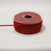 Dochtfaden Lehner Wollschnur in rot 5mm35m