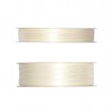 Doppel Satinband creme 50m in zwei Größen
