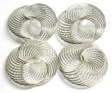 Deko-Drahträder silber in zwei Größen