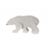 Eisbär aus Holz weiß 29x15cm 1Stk