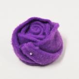 Filz-Rosen lila 8cm 6Stk