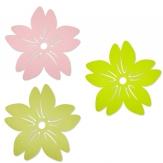 Filz Tischset Blüte in drei Farben Ø40cm 4Stk