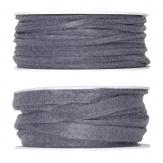 Filzband grau in zwei Größen