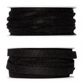 Filzband schwarz in zwei Größen