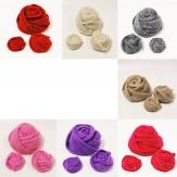 Filz-Rosen in verschiedenen Farben und Größen