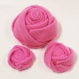 Filz-Rosen rosa 8cm 6Stk