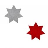 Filz Tischset Stern 40cm in zwei Farben 4Stk