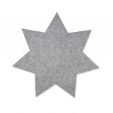 Filz Tischset Stern grau 40cm 4Stk