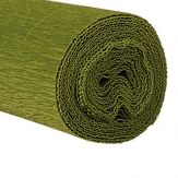 Floristenkrepp grün - grasgrün 50x250cm  1Rolle
