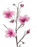 Foam Kunstblume Magnolie pink 110 cm (1St)