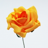 Foam-Rose gelb Ø10cm 8Stk