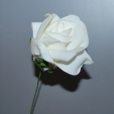 Foamrose weiß Ø8cm 18Stk