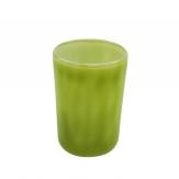 Glaswindlicht grün Ø8cm 4Stk