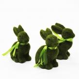 Hasen grün bemoost 15x12cm 3Stk