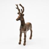 Hirsch kupfer-silber 15x8x22cm 1Stk
