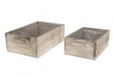 Holzkasten zum Bepflanzen länglich natur 1Set