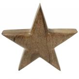 Holzstern natur 19cm 1Stk