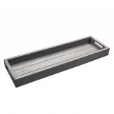 Holztablett grau 58x18 cm 1Stk