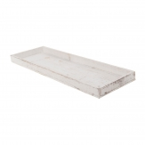 Holztablett weiß 60x20cm 1Stk