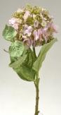 Hortensie aus Seide hellrosa 48cm 1Stk