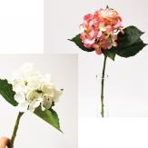 Hortensie aus Seide in zwei Farben und Größen