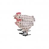 Huhn aus Metall creme 20cm 1Stk