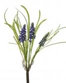 Hyazinthe mit Gras hellviolett 28cm 4Stk
