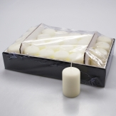 Kerzen elfenbein 8x5cm 24Stk