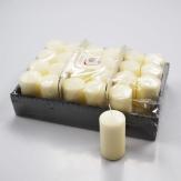 Kerzen elfenbein 10x5cm 24Stk