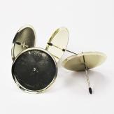 Kerzenteller mit Dorn gold Ø10cm 4Stk