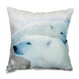 Deko Kissen mini Eisbär 25x25cm 1Stk