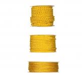 Kordelband - gelb in drei Größen